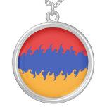 Bandera Gnarly de Armenia Colgante Redondo