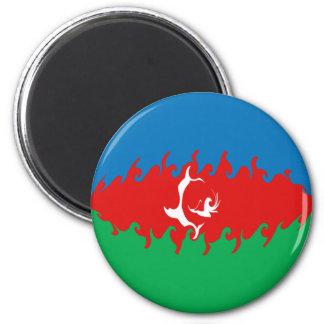 Bandera Gnarly de Azerbaijan Imán Redondo 5 Cm