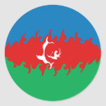 Bandera Gnarly de Azerbaijan Pegatina Redonda