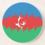 Bandera Gnarly de Azerbaijan Posavasos Cerveza