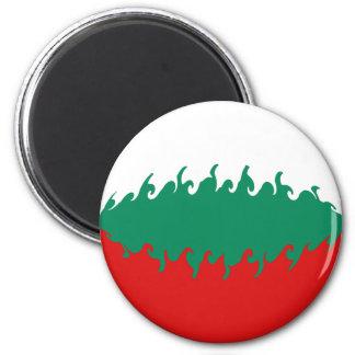Bandera Gnarly de Bulgaria Imán Redondo 5 Cm