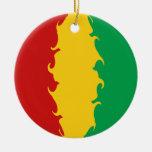 Bandera Gnarly de Conakry de Guinea Ornamentos De Reyes Magos