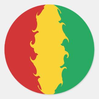 Bandera Gnarly de Conakry de Guinea Pegatina Redonda
