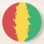 Bandera Gnarly de Conakry de Guinea Posavaso Para Bebida