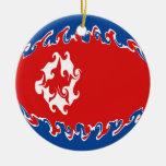 Bandera Gnarly de Corea del Norte Ornamentos Para Reyes Magos