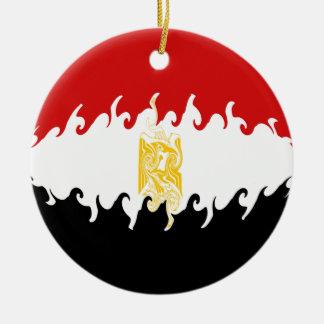 Bandera Gnarly de Egipto Adorno Redondo De Cerámica