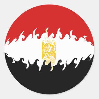 Bandera Gnarly de Egipto Pegatina Redonda