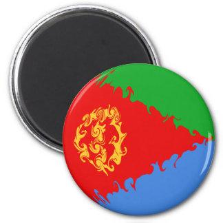 Bandera Gnarly de Eritrea Imán Redondo 5 Cm
