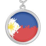 Bandera Gnarly de Filipinas Pendientes Personalizados