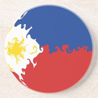 Bandera Gnarly de Filipinas Posavasos Personalizados