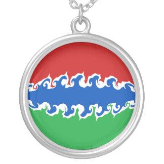 Bandera Gnarly de Gambia Colgante Redondo