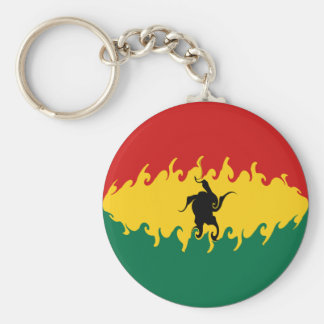 Bandera Gnarly de Ghana Llavero Redondo Tipo Pin