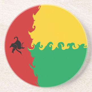 Bandera Gnarly de Guinea-Bissau Posavasos Para Bebidas