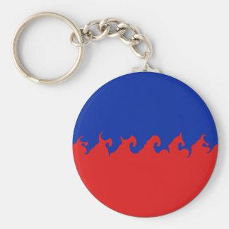 Bandera Gnarly de Haití Llaveros