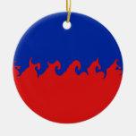 Bandera Gnarly de Haití Ornamentos De Reyes Magos
