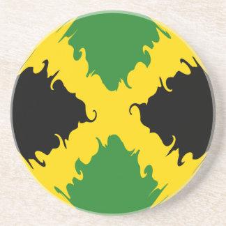Bandera Gnarly de Jamaica Posavasos Personalizados