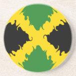 Bandera Gnarly de Jamaica Posavasos Diseño