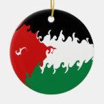Bandera Gnarly de Jordania Ornamento Para Reyes Magos
