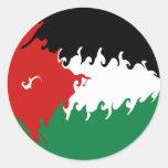 Bandera Gnarly de Jordania Etiqueta Redonda