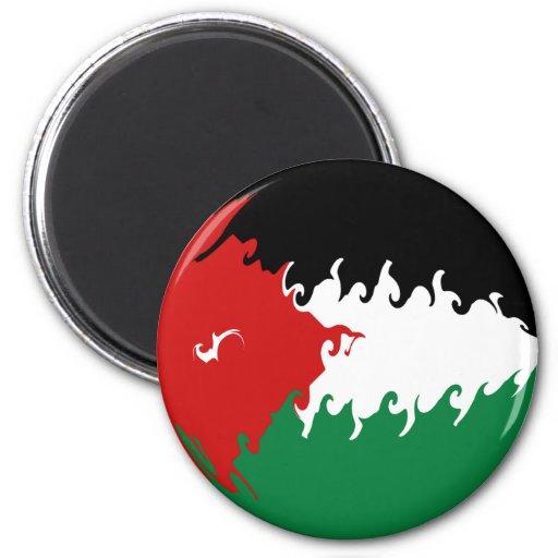 Bandera Gnarly de Jordania Imán Redondo 5 Cm