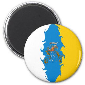 Bandera Gnarly de las islas Canarias Imán Para Frigorífico
