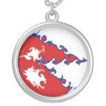 Bandera Gnarly de Nepal Colgante Redondo