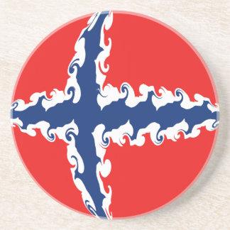 Bandera Gnarly de Noruega Posavasos Para Bebidas