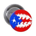 Bandera Gnarly de Puerto Rico Pin Redondo 5 Cm