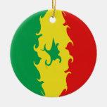 Bandera Gnarly de Senegal Ornamento De Reyes Magos