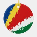 Bandera Gnarly de Seychelles Adorno Para Reyes