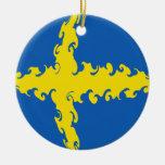 Bandera Gnarly de Suecia Adorno Para Reyes