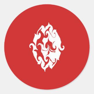 Bandera Gnarly de Túnez Pegatina Redonda