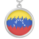 Bandera Gnarly de Venezuela Colgante Redondo
