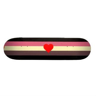 Bandera gorda del orgullo de los amantes tablas de skate