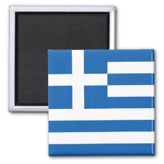 Bandera GR de Grecia Imán Cuadrado