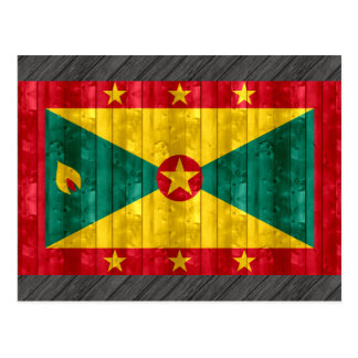 Bandera granadina de madera tarjetas postales