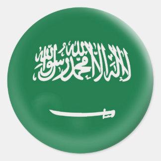 bandera grande de la Arabia Saudita la Arabia Pegatina Redonda