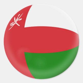 bandera grande de Omán de 6 pegatinas Pegatina Redonda