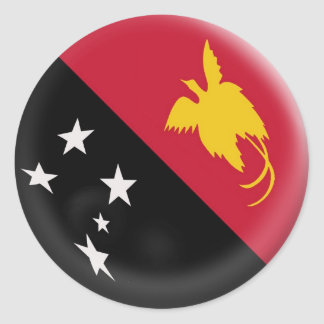 bandera grande de Papúa Nueva Guinea de 6 Pegatina Redonda