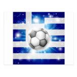 Bandera griega del fútbol postal