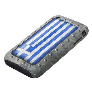 Bandera griega industrial funda though para iPhone 3