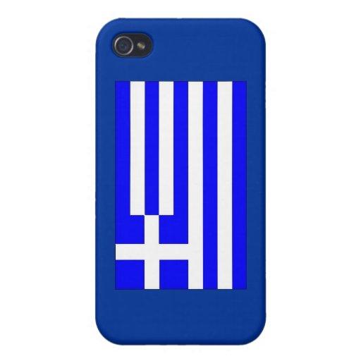 Bandera griega iPhone 4/4S fundas