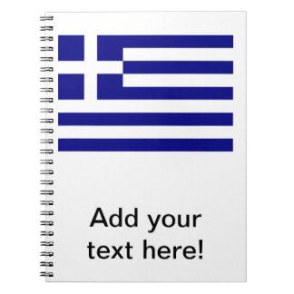 Bandera griega libretas espirales