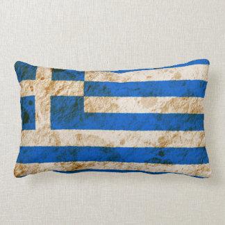 Bandera griega rugosa almohada