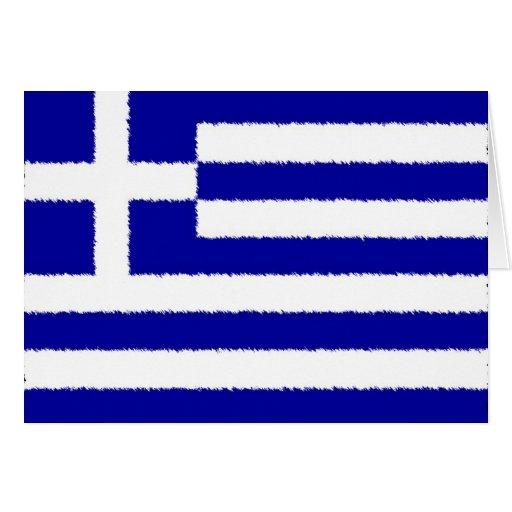 Bandera griega tarjeta pequeña