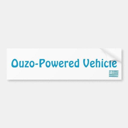 Bandera griega, vehículo Ouzo-Accionado Etiqueta De Parachoque