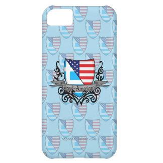 Bandera Griego-Americana del escudo Funda Para iPhone 5C