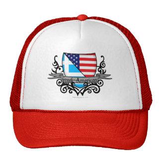 Bandera Griego-Americana del escudo Gorro De Camionero