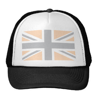 bandera gris suave de Union Jack Británicos (Reino Gorros