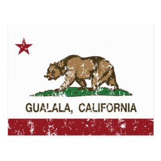 Bandera Gualala de la república de California Postal